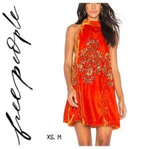 NWT Free People Jills Sequin Velvet Swing Dress